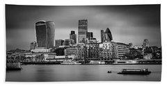 The City Of London Mono Beach Towel