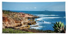 The Cliffs Of Point Loma Beach Sheet by Daniel Hebard