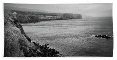The Coast Of Terceira Beach Sheet by Kelly Hazel