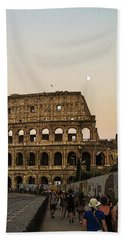 The Coliseum And The Full Moon Beach Towel