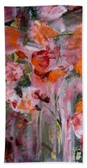 Beach Towel featuring the painting The Color Of Summer by Nancy Kane Chapman
