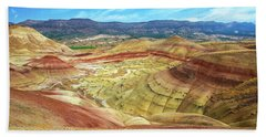 The Colorful Painted Hills In Eastern Oregon Beach Towel