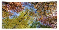 The Colors Of Autumn Beach Sheet