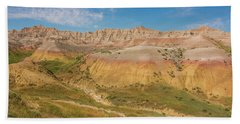The Colors Of Badlands National Park Beach Towel