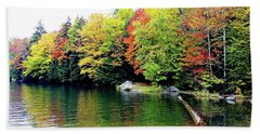 The Colors Of Lake Raponda - Wilmington, Vermont Beach Towel