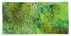 Abstract Art - The Colors Of Spring Beach Towel