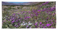 Beach Towel featuring the photograph The Colors Of Spring Super Bloom 2017 by Peter Tellone