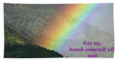 Beach Towel featuring the photograph The Colors Of The Rainbow Carry On by DeeLon Merritt