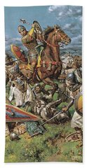 The Coming Of The Conqueror Beach Towel