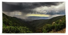 Beach Towel featuring the photograph The Coming Storm by Rick Furmanek