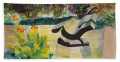 The Corinthian Garden Beach Towel