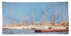 Beach Towel featuring the photograph The Cormorants At Deaths Door by Susan Rissi Tregoning