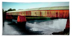 The Cornish-windsor Covered Bridge  Beach Towel