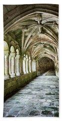Beach Towel featuring the photograph The Corridors Of The Monastery by Eduardo Jose Accorinti