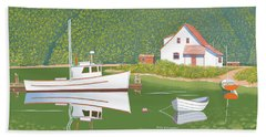 The Cottage At Blackberry Point Beach Towel