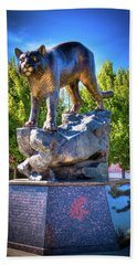 The Cougar Pride Sculpture Beach Sheet