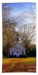 Beach Towel featuring the photograph The Country Church by Kathy White