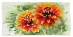 Beach Towel featuring the photograph The Couple by Mary Timman