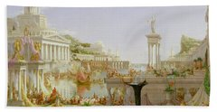 The Course Of Empire - The Consummation Of The Empire Beach Towel by Thomas Cole
