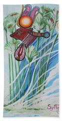 The Cow Goddess - Hathor Beach Towel by Sigrid Tune
