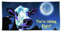 The Cow Jumps Over The Moon Beach Towel