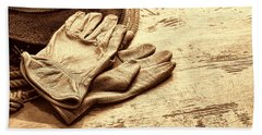 The Cowboy Gloves Beach Sheet