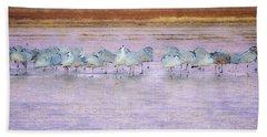 The Cranes Of Bosque Beach Towel