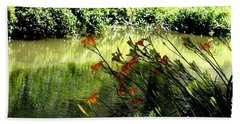 Beach Sheet featuring the photograph The Creek At The Old Mill by Donna Walsh