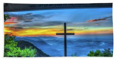 The Cross Sunrise At Pretty Place Chapel Beach Towel