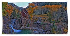 Beach Towel featuring the photograph The Crystal Mill by Scott Mahon