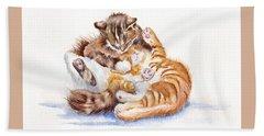 The Cuddly Kittens Beach Sheet