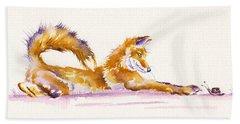 The Curious Fox Beach Towel
