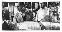 The Curse Of Frankenstein 1957 Baron Victor Frankenstein Beach Sheet