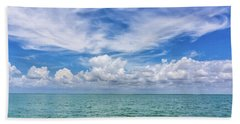 The Dance Of Clouds On The Sea Beach Towel