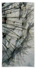 Beach Towel featuring the digital art The Dandelion Silhouette by Steve Taylor