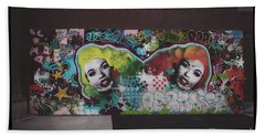 Beach Towel featuring the photograph The Dark Side -  Graffiti by Colleen Kammerer