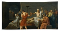 The Death Of Socrates, 1787 Beach Towel