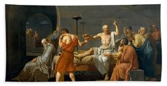 The Death Of Socrates - Jacques-louis David  Beach Towel