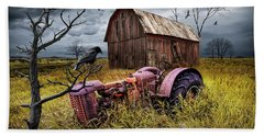 Beach Sheet featuring the photograph The Decline And Death Of The Small Farm by Randall Nyhof