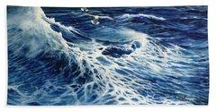 The Deep Blue Sea Beach Sheet by Eileen Patten Oliver