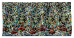 The Demons Of The Temple Beach Towel by Michelle Meenawong