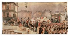 The Departure Of The Volunteers 1792 Beach Towel