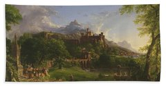 The Departure Beach Sheet by Thomas Cole