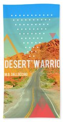 The Desert Warrior Book Cover Beach Towel