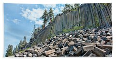 The Devil's Postpile Beach Towel