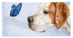 The Dog And The Butterfly Beach Towel