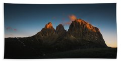 The Dolomites, Italy Beach Towel by Happy Home Artistry