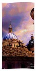 The Domes Of Immaculate Conception, Cuenca, Ecuador Beach Sheet by Al Bourassa