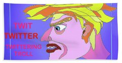 A Troll Named  Donald Beach Towel by Hartmut Jager
