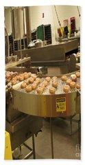 The Doughnut Machine Beach Sheet by Carol F Austin